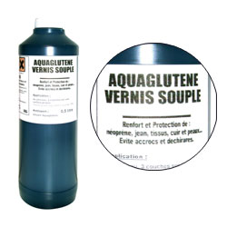 Aquaglutène (liquid rubber varnish)