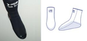 Vade Retro Chaussettes néoprènes 3mm avec renfort