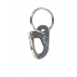 porte-clés - plaquette en acier zingué