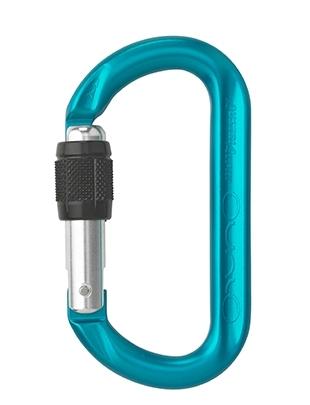 AustriAlpin ovAlo - Mousqueton symétrique à vis | anodisé bleu