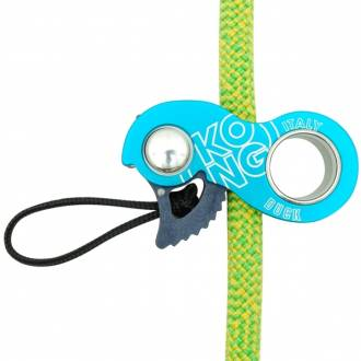 Kong Duck (cyan) rope clamp