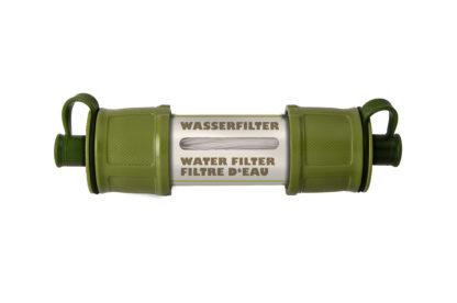 filtre à eau. Les filtres UV, à charbon, en microfibre ou en céramique éliminent de l'eau les amibes, les bactéries, le Bilharzi, les kystes et les Giardia Lamblia, etc.